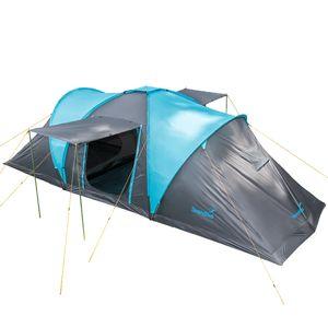 SKANDIKA Familienzelt Hammerfest 6 Personen - Sleeper Protect Zelt mit dunklen Schlafkabinen