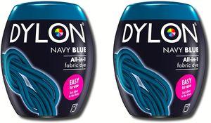 Dylon Marineblau Maschinenfarbstoff Blau 2x350g Färben Farben Farbstoff