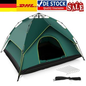 Campingzelte Pop-Up Wurfzelt 5-6 Person 180T Zelt Camping Familienzelt Automatikzelt Wasserdicht Tent Travel