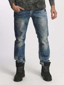Cipo & Baxx Männer Straight Fit Jeans Used in blau Cipo & Baxx