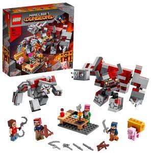 LEGO 21163 Minecraft Das Redstone-Kräftemessen Set mit Figuren: Golem und Monster, Spielzeug für Kinder ab 8 Jahren