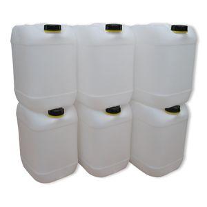 6 Stück 20 Liter Kanister Camping Wasserkanister Farbe natur (6x20knn)