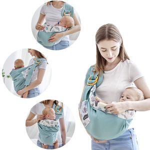 Babytragenschlinge, Baby haltend, vier Jahreszeiten multifunktionales, atmungsaktives Netz, Neugeborenen-Tragetasche, Matcha-Grün