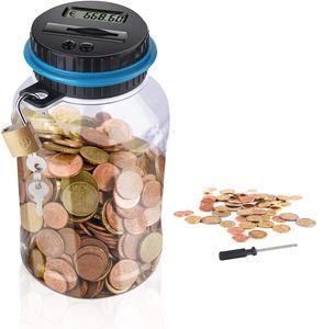 Digitale Spardose mit Münzzähler Automatischer Münzzähler mit LCD Anzeige Geld Sparen Box Digital Spardose Zähler Münzen Zählwerk
