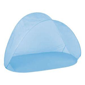 Pop-Up Strandmuschel Strandzelt Sichtschutz Zelt mit Tasche blau H97xB150xT80cm