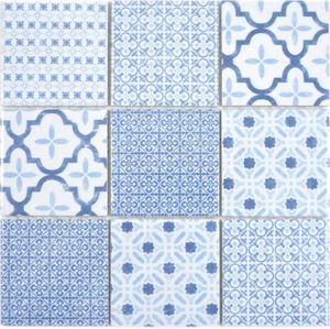 Keramik Mosaik COOL blau Mosaikfliese Wand Fliesenspiegel Küche Bad MOS22B-CB04_f