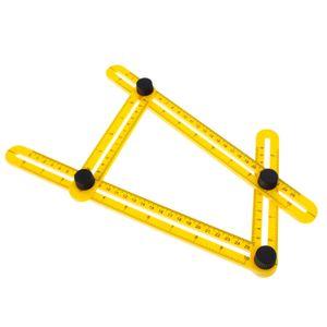 Multifunktions Messlineal mit Feststellschrauben Winkelmesser Winkel Lineal Winkelschablone Werkzeug