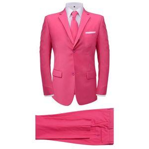 vidaXL 2-tlg. Herrenanzug mit Krawatte Rosa Gr. 48