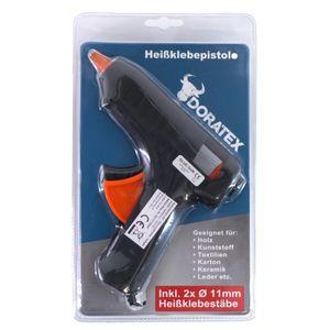 Heißklebepistole Klebepistole Heissklebepistole Inkl. 2x Heißklebestäbe Ø11mm Schmelzklebepistole Schwarz Orange