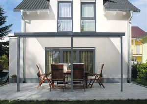 Terrassenüberdachung / Terrassendachsystem Gutta Typ B anthr. 5,4x3m