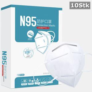 10x KN95 Atemschutzmaske Mundschutz (KN95 ≥ 95% =  ≥ 94% ) N95 Staubschutzmaske Maske Wiederverwendbar CE Passed