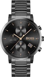 Hugo Boss Chronograph Uhr Herren Integrity 1513780 In Schwarz/Schwarz Edelstahl/Edelstahl