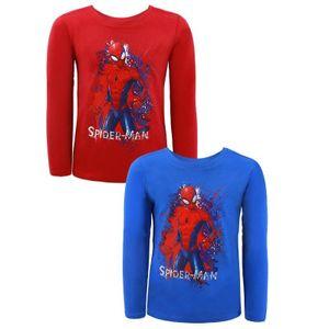 Marvel Spiderman T-Shirt Langarm - Größe Blau 104