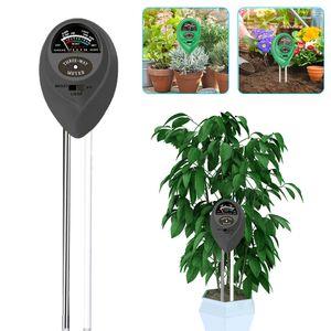 Bodentester, 3-in-1 Boden Feuchtigkeit und PH, Lichtintensität Bodentester für Pflanzenerde, Garten, Bauernhof, Rasen, Drinnen und draußen (Schwarz)