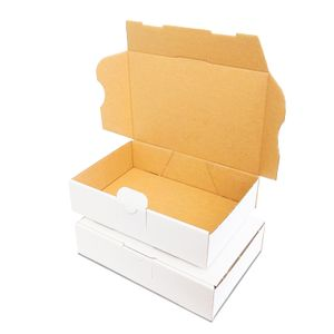 verpacking 25 Maxibriefkartons Versandkartons Faltschachtel Faltkarton Maxibrief 180 x 130 x 45 mm   Weiss   MB-2
