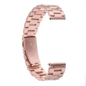 28mm Ersatz Armband aus Edelstahl uhrenband Uhrenarmbänder für Fitbit Versa - Rose Gold