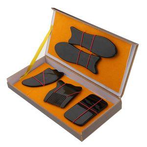 5 Stück Gua Sha Scraping Massage Werkzeug Guasha Brett für SPA Triggerpunkt Behandlung Ganzkörper Entspannung