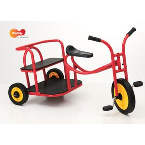 Weplay KM5516 Roller Dreirad mit Pedalen Tuk Tuk Rikscha Taxi, rot, rot (1 Stück)