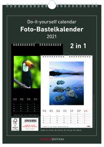 herlitz Kreativ-Wandkalender 2021 DIN A4 schwarz / weiß zum Selbstgestalten