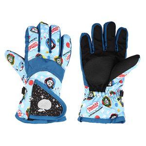 Kinder Ski-Handschuhe Schnee Junge Mädchen Winter-wasserdicht winddicht -(Hellblau,)