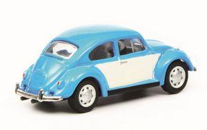Schuco VW Käfer blau/weiß 1:87