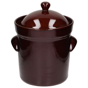 Bunzlauer Keramik GÄRTOPF Steinzeug Sauerkrauttopf Gurkentopf Rumtopf DECKEL 10L