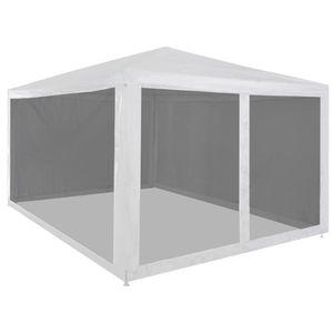 Pavillon Partyzelt mit 4 Mesh-Seitenwänden 4 x 3 m Faltpavillon wasserabweisend & stabil