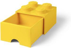 LEGO aufbewahrungsstein mit Schublade 4 Noppen 25 x 17 cm Polypropylen gelb