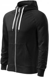Kontrastiertes Herren-Sweatshirt mit Kapuze - Schwarz - L