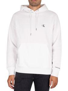 Calvin Klein Jeans Herren Wesentlicher Pullover Hoodie, Weiß L