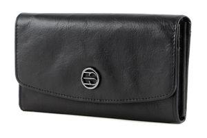 Esprit Iris Iris Flap Clutch Wallet Leder Geldbörse 080EA1V317, Farbe:Schwarz