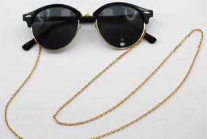 Sonnenbrillenkette Brillenkette Ankerkette 2,5mm, 75cm lang, T-Y, vergoldetes Metall