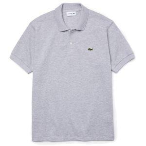 Lacoste Herren Logo-Polo-Shirt, Grau L