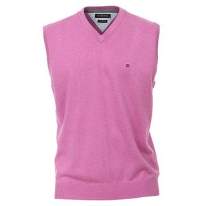 Größe XL Casamoda Pullunder Rosa Ärmellos Normal Geschnitten V- Neck Ausschnitt 100% Baumwolle