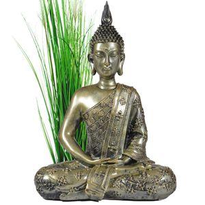 Buddha Figur groß 40cm meditierend Buddhismus Dekoration für die Wohnung