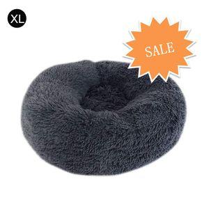 Hundebett Tierbtt, Weich u. Waschbar für Katzen Hunde, Dunkelgrau,Durchmesser 70cm