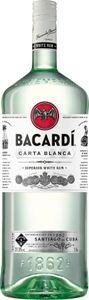 Bacardi Carta Blanca Superior White Rum Großflasche | 37,5 % vol | 1,5 l