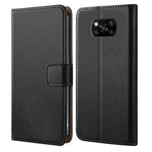 Handytasche für Xiaomi Poco X3 / X3 NFC Schutz Hülle mit Aufstellfunktion Handyhülle Klapp Tasche Etui mit Kartenfächer Flip Cover TPU innen Schale