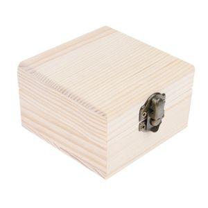 kleine Holzschatulle, Schmuckkästchen, Holz unbehandelt