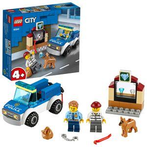 LEGO 60241 City 4+ Polizeihundestaffel mit Auto und Hundefigur für Kinder ab 4 Jahren