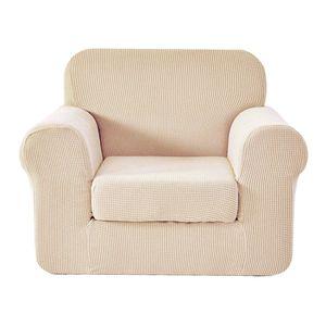 Sesselbezug Stretch Sofabezug Sofaüberwurf Möbelschutz Sofaüberzug Sesselhussen für Polstersessel Wohnzimmersessel Relaxsessel 81-120 cm Nicht-gerade weiss