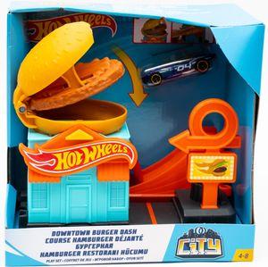Mattel GPD09 - Hot Wheels City vs Robo Beast - Hamburger-Stunt-Set
