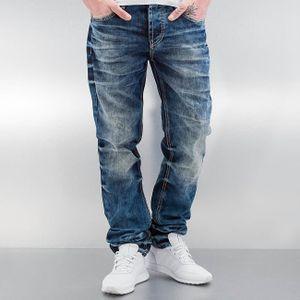 Cipo & Baxx Männer Straight Fit Jeans Stevenage in blau Cipo & Baxx