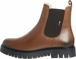 Tommy Hilfiger Warm Lined Chelsea Boots Stiefeletten Damen  winter cognac braun 41