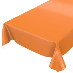 Uni Orange Einfarbig 200x140cm Wachstuch Tischdecke