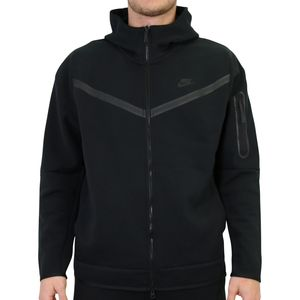 Nike Tech Fleece Hoodie Kapuzenpullover Jacke Herren Schwarz (CU4489 010) Größe: M