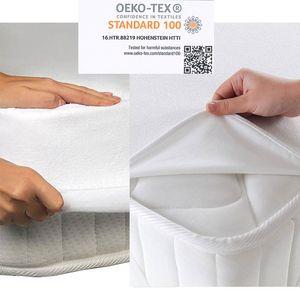 2 er Set Matratzenschoner Matratzenauflage Wasserdicht Inkontinenz Matratzenschutz Molton, Maße:140cm x 200cm, Produkt-art:4 Ecken Gummi