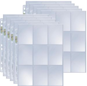 10 Ultra Pro 9-Pocket Silver Series Pages Ordnerseiten für 3-Ring Album - Magic: The Gathering - Yu-Gi-Oh!