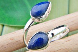 Lapis Lazuli Ring 925 Silber Sterlingsilber Damenring blau (MRI 87-06),