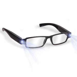 Boolavard® TM Schwarz LED Brille alterssichtigen Lesebrille mit LED Licht macht/Dioptrien; + 2,5